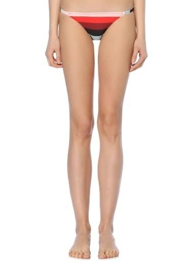 Solid & Stripe Bikini Alt Renkli
